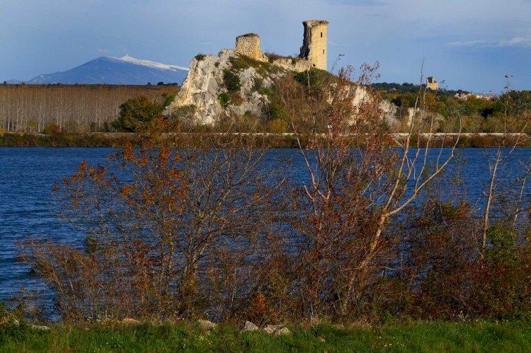 Le château de L'hers à Châteauneuf du Pape