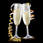 Bouteille de Champagne en chambre