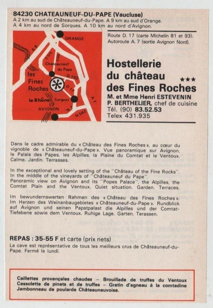 Publicité de 1976