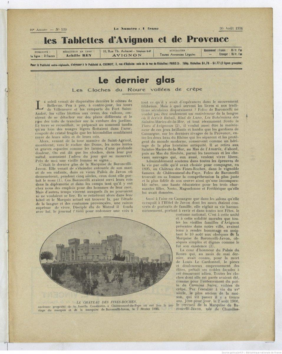 Petite histoire des Baroncelli
